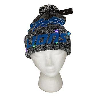 NFL Detroits Lions LED Lighted Stripe Beanie Gray Knit Chapeau d'hiver A371654