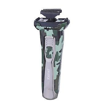 Recortador de barba de afeitadora eléctrica lavable de camuflaje