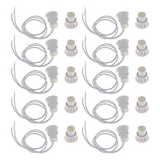 Aionyaaa Magnetic Door Magnetic Alarm 10 Pcs Embedded Magnetic Window Contact Alarm Siren Switch White