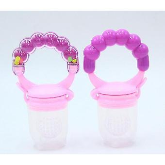 Modern non toxic toddler pacifier feeder and nibbler(Purple S)