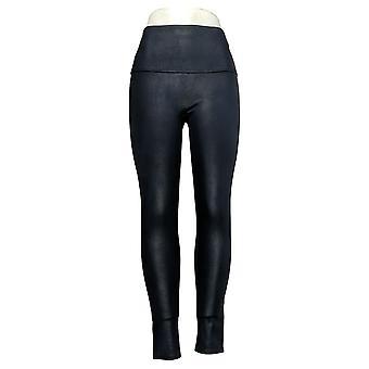 DG2 by Diane Gilman Leggings Slim & Sleek Coated Knit Blue 678576