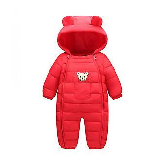 Children's Down Cotton Bear Ears Romper Baby Go Out To Keep Warm Down Cotton