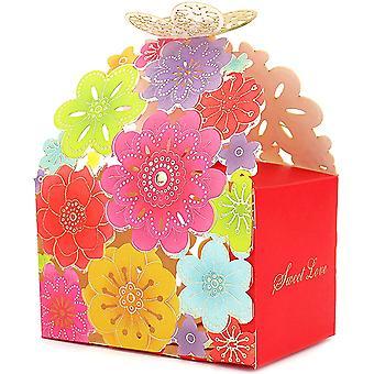 50 Geschenktüten Multicolor Candy Box geeignet für Hochzeiten und Geburtstagsfeiern