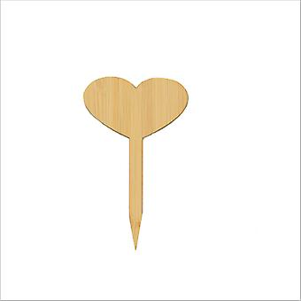 50pcs Bambus Pflanze Tags mit Marker Pen, Garten Holz Pflanze Tags Marker für Samen Topf Kräuter Blumen Gemüse (Ellipse, 50 Stück)