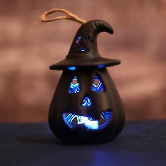 Halloween Led Wiszące Nocne Światło Czarownica Kapelusz Hollow Pumpkin Lantern