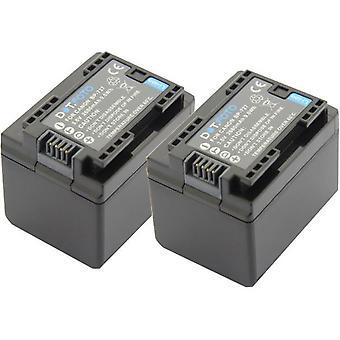 2 x Dot.Foto BP-727 PREMIUM 3.6v / 2680mAh Ersatz wiederaufladbare Camcorder Batterie für Canon [Siehe Beschreibung für Kompatibilität]