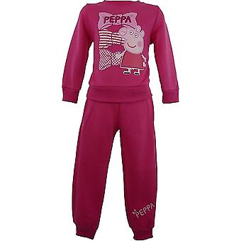 Ragazze Peppa Pig Jogging SuitTracksuit NH6008. I06