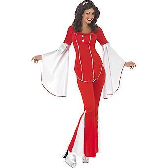 70s Disko Kostüm Super Trooper Bayanlar 3 parçalı