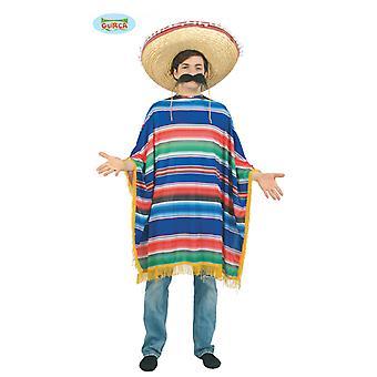 Enorme poncho Mexicano Chicano mannen kostuum één maat