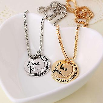 "BOOLAVARD Two Piece ""I Love You To The Moon and Back"" Pendant Necklace + Gift Box"