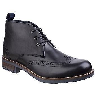 Cotswold Mens Avening Brogue Chukka Boot Black