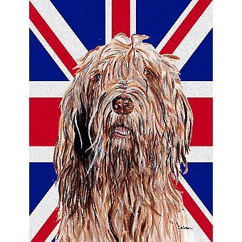 Otterhound met Engelse Union Jack Britse vlag vlag canvasgrootte van het huis