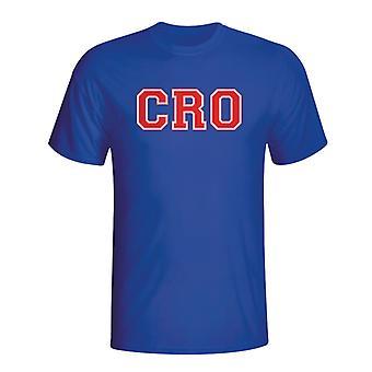 Kroatien land Iso T-shirt (blå) - børn