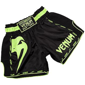 Venum Giant Lightweight Muay Thai Shorts - Black/Neo Yellow