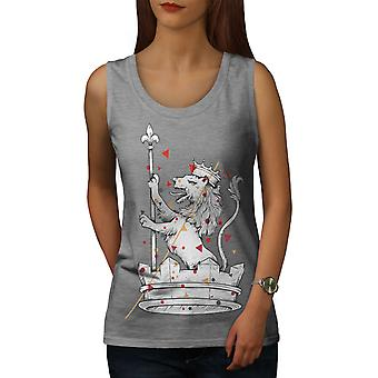 Lion King Pride Animal Women GreyTank Top | Wellcoda