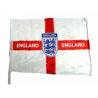 Anglii piłce nożnej trudnej sytuacji Crest samochód flagi