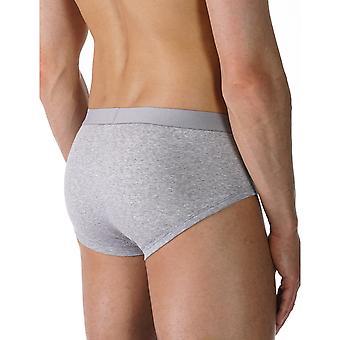 Mey 49112-620 Men's Casual Cotton Grey Solid Colour Brief