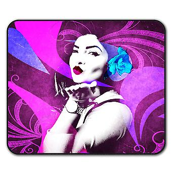 Kiss Abstract Art  Non-Slip Mouse Mat Pad 24cm x 20cm | Wellcoda