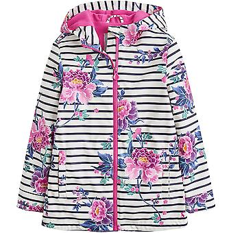 Joules Girls Z AOP Hooded Warm Fleece Lined Waterproof Coat Jacket