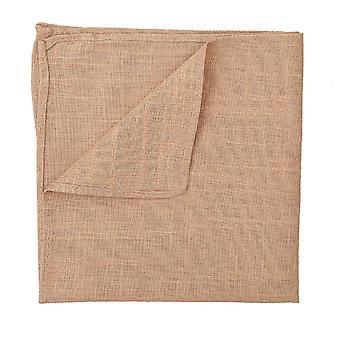 Mouchoir de poche lin or natté