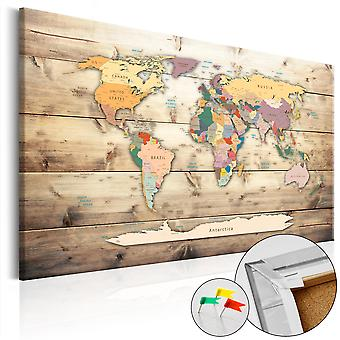 Decorative Pinboard - The World at Your Fingertips [Cork Map]