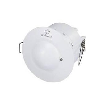 Renkforce 1362920 Recess-mount, Ceiling HF motion detector 360 ° White IP20
