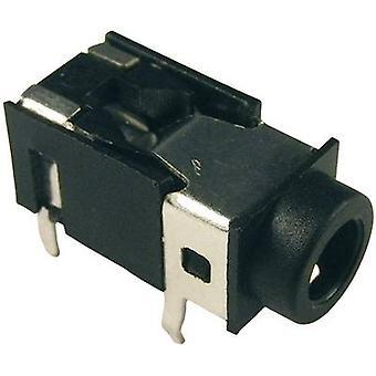 Acantilado FC68126 3.5 mm conector de audio toma, horizontal montaje número de pernos: 4 estéreo negro 1 PC
