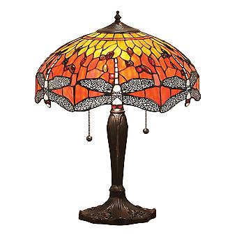 Interiør 1900 flamme Dragonfly 2 store lystabell lampe