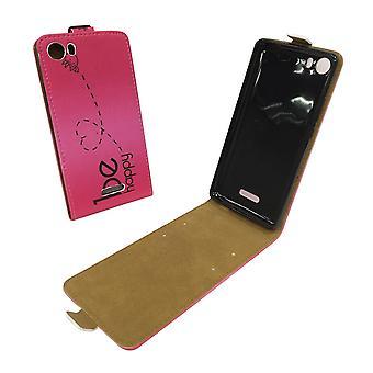 Mobiele telefoon geval zakje voor mobiele WIKO koorts 4 G worden gelukkig roze