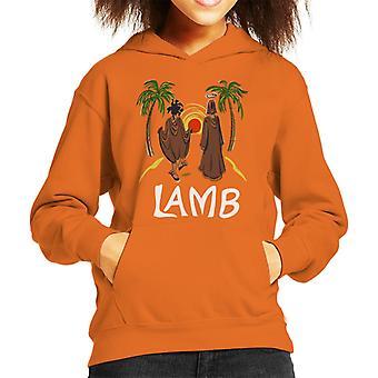 Must Read Book Covers Lamb Kid's Hooded Sweatshirt