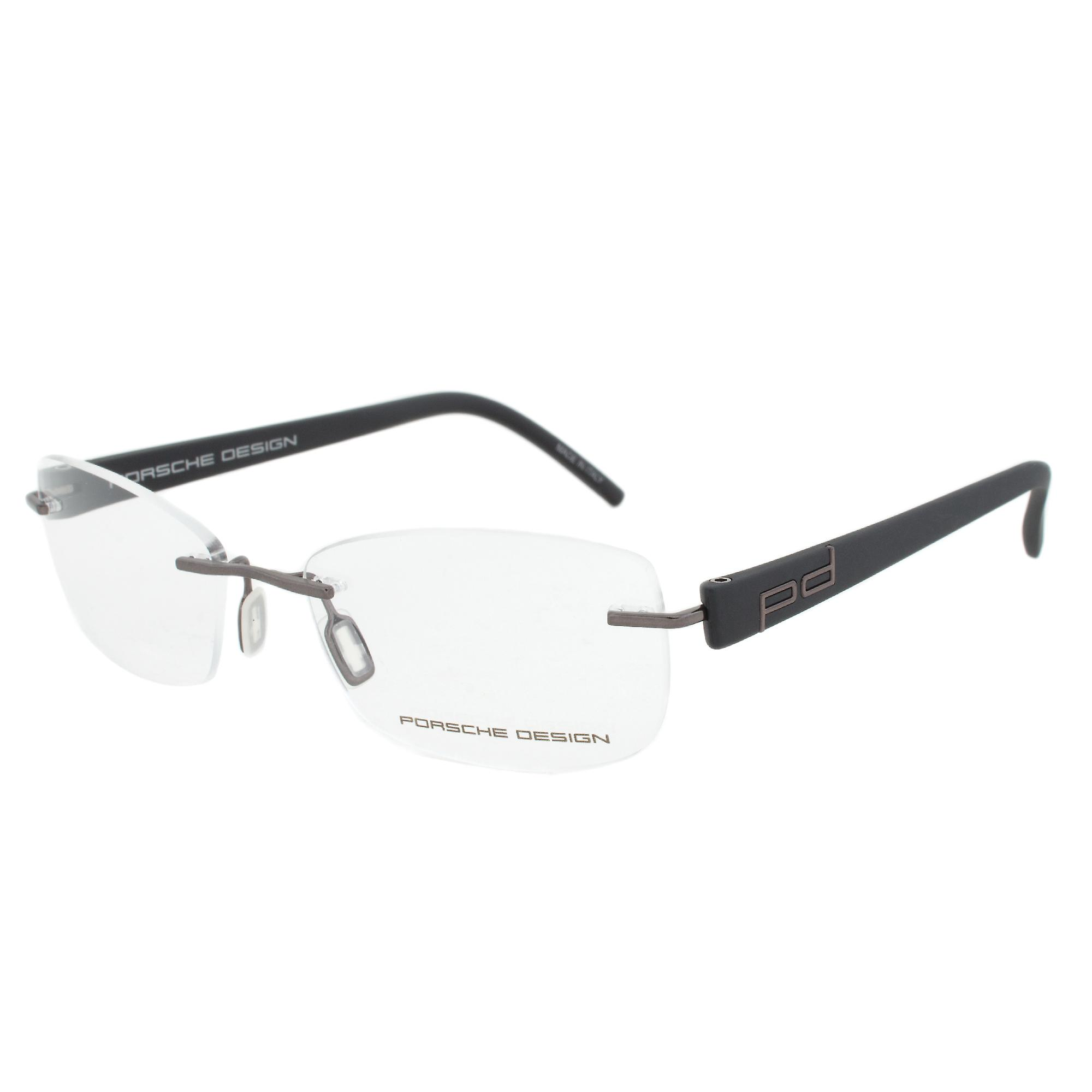 Porsche Design P8209 D  Rectangular | Gunmetal/Matte Black| Eyeglass Frames