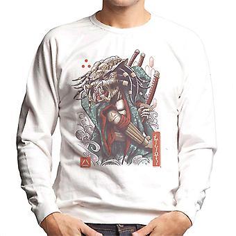 Ukiyo-E Samurai Predator mannen Sweatshirt