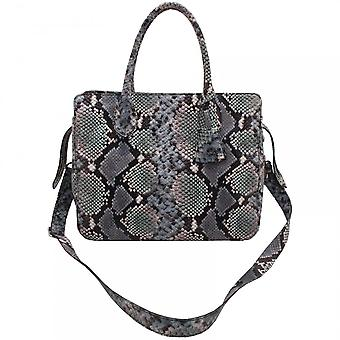 Abro Tote Skin Effect Grab Handle Handbag