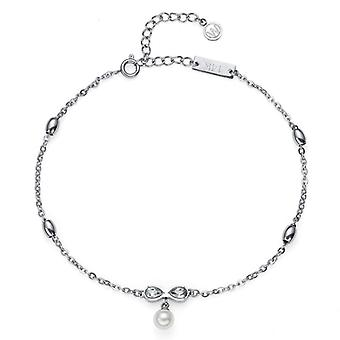 Oliver Weber Ankle Chain Bow Steel CZ Crystal