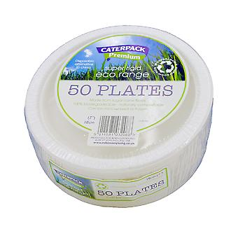 Eco Super Rigid Biodegradeable Plate 18cm