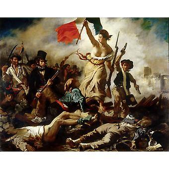 Liberty Leading the People, 28. Juli 1830, Eugene Delacroix, 50x40cm