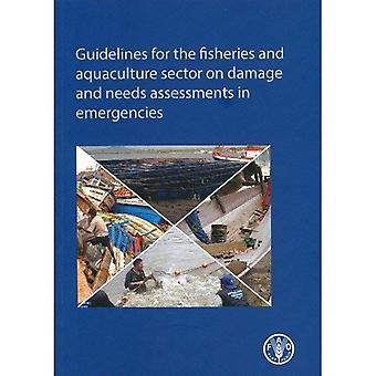 Richtsnoeren voor de Sector visserij en aquacultuur op schade en evaluaties in noodsituaties moet