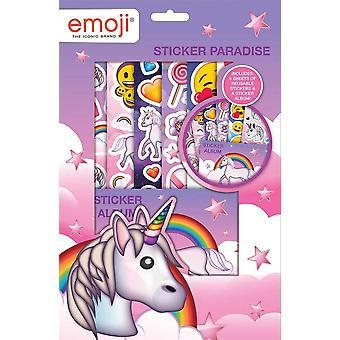 Emoji Unicorn monocoration Sticker Paradise Stickers Reusable Stickers