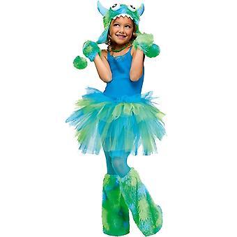Glitzer Tutu Kind grün blau