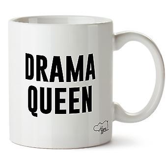 Rainha do Drama Hippowarehouse impresso caneca copo cerâmico 10oz