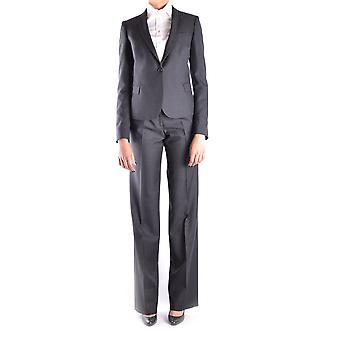 Neil Barrett Ezbc058007 Women's Grey Wool Dress