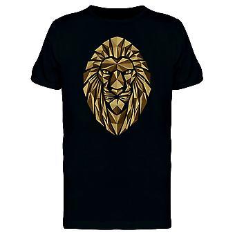 Geometrische Polygon Löwenkopf T-Shirt Herren-Bild von Shutterstock