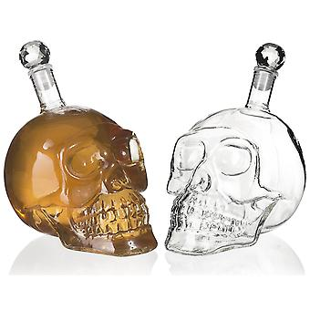 Craniu sticla pentru lichior - 500ml - în formă de craniu sticla de vin (transparent / clar) - Craniu Decantor Pentru Vodka Whisky Cognac