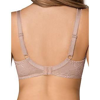 Nipplex Women's Tatiana Mocca Brown Lace Plus Size DD+ Support Padded Bra