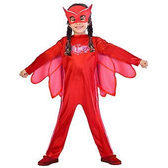MASKA PJ hrdinové děti kostým Eulette Owlette hrdinové v Pajama Amaya