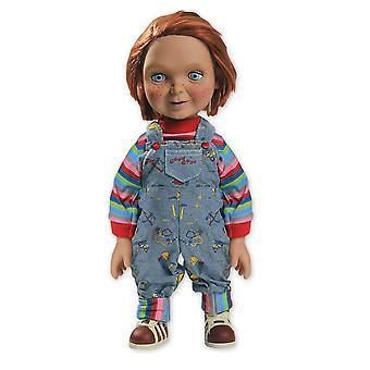 Barneleg Chucky dukke 15 god fyr, lavet af plastik, med sunde funktion af Mezco.