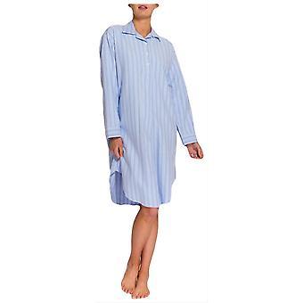 Britische Boxer Westwood Stripe Zwei Falten Flannel Nightshirt-Blue