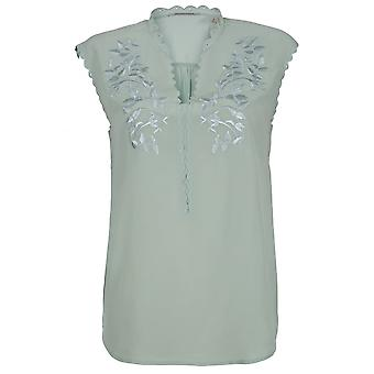 Maison Scotch Sleeveless Silk Blouse