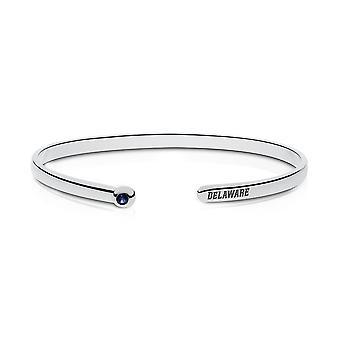 University of Delaware Sapphire Cuff Bracelet In Sterling Silver Design by BIXLER