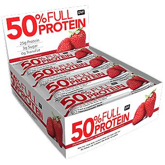 QNT 50% Full Protein Bar manter massa muscular (morango exótica) 12 X 50g